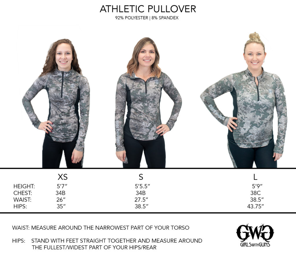 Athletic Pullover Size Chart