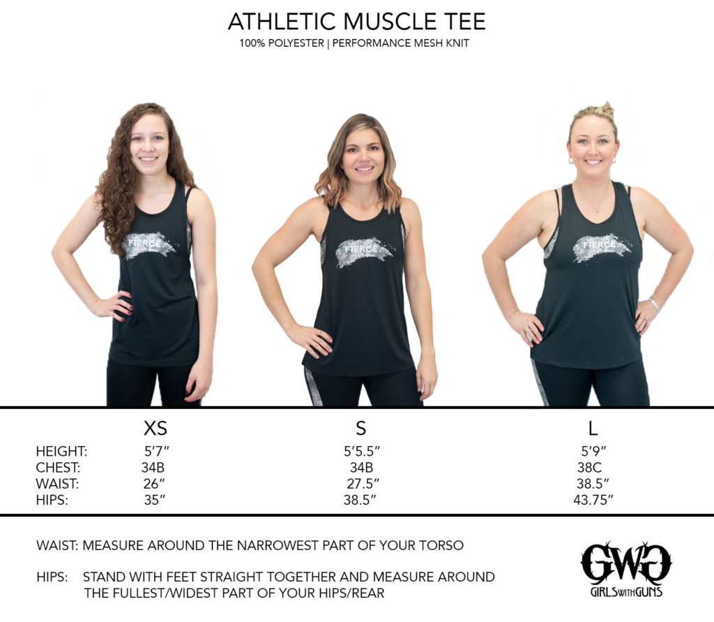 Size Chart for Athletic Muscle Tee