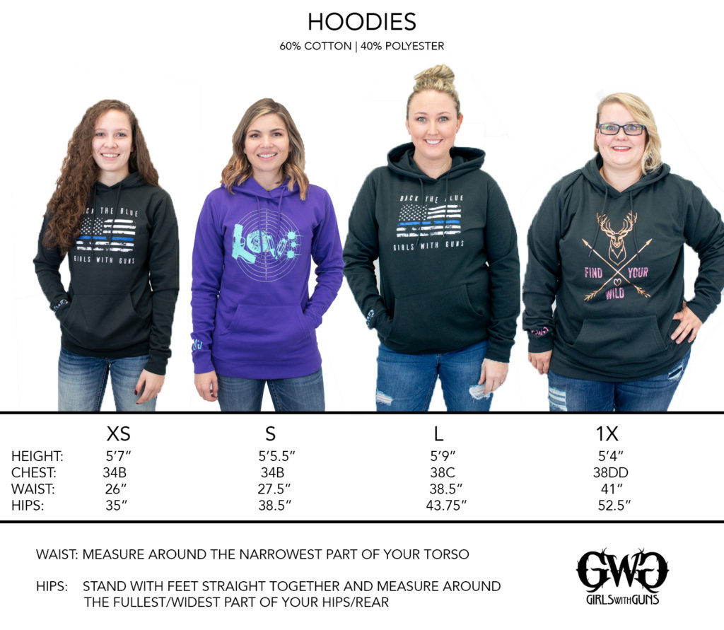 GWG Size Chart - Brand Wear Hoodies