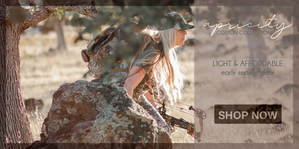 Apricity Cotton Collection - Early Season Hunting Gear for Women