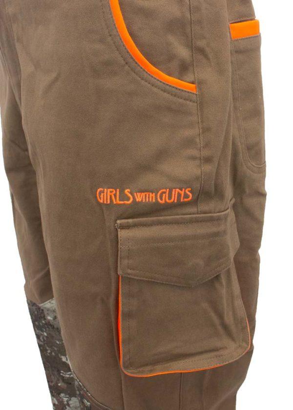 Highland Pants - Cargo Pocket Detail and Logo