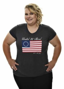 Betsy Ross Flag Tee in Heather Charcoal
