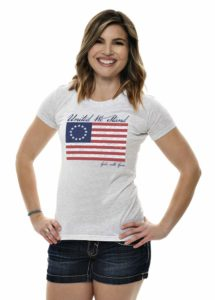 Betsy Ross Flag Tee in Heather Gray