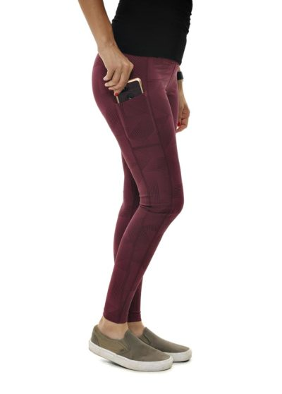 GWG's Eclipse Leggings in Burgundy