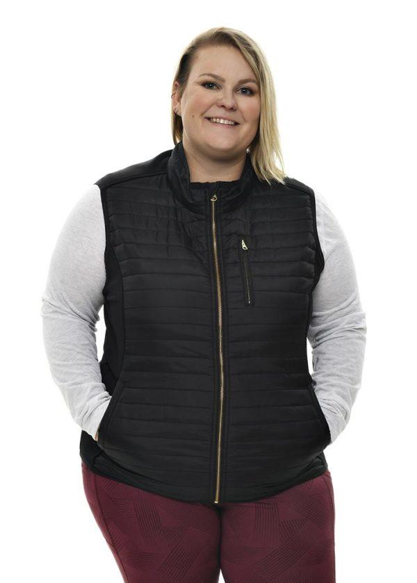 Primitive Puffer Vest - Black Front View Plus Size
