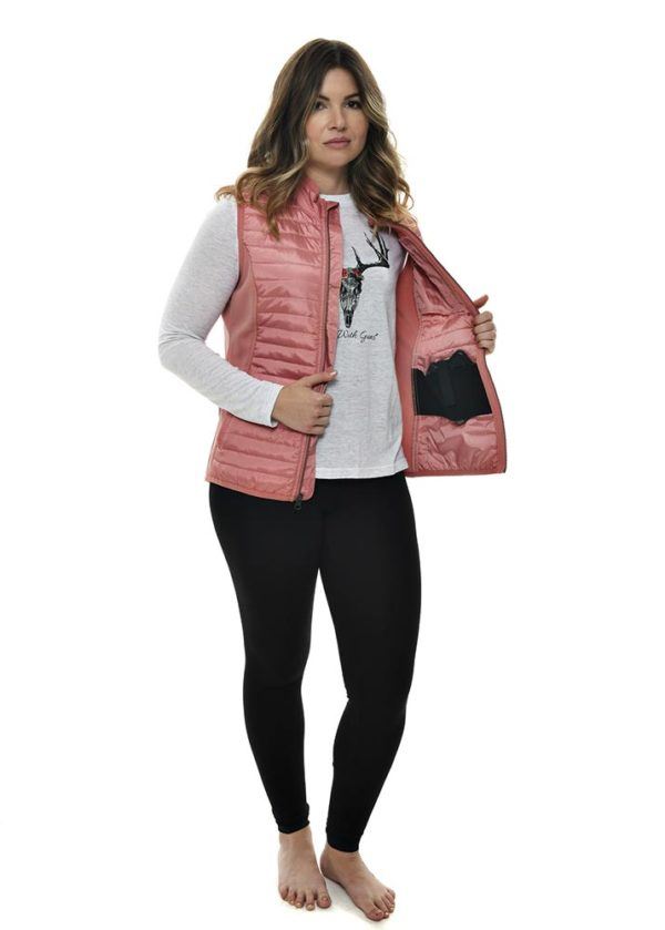 Primitive Puffer Vest-Dusty Rose - Conceal Carry