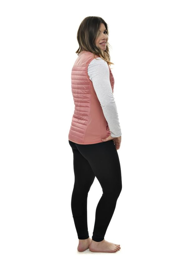 Primitive Puffer Vest Dusty Rose - Side View