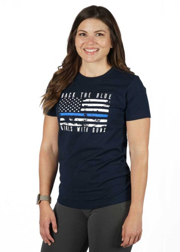 Back the Blue Tee - Navy