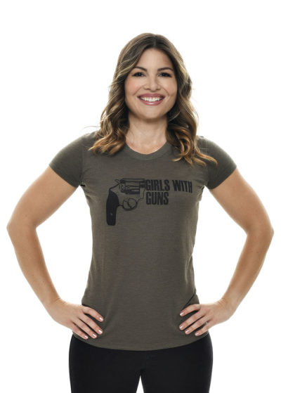 Armed Tee Olive by Girls with Guns
