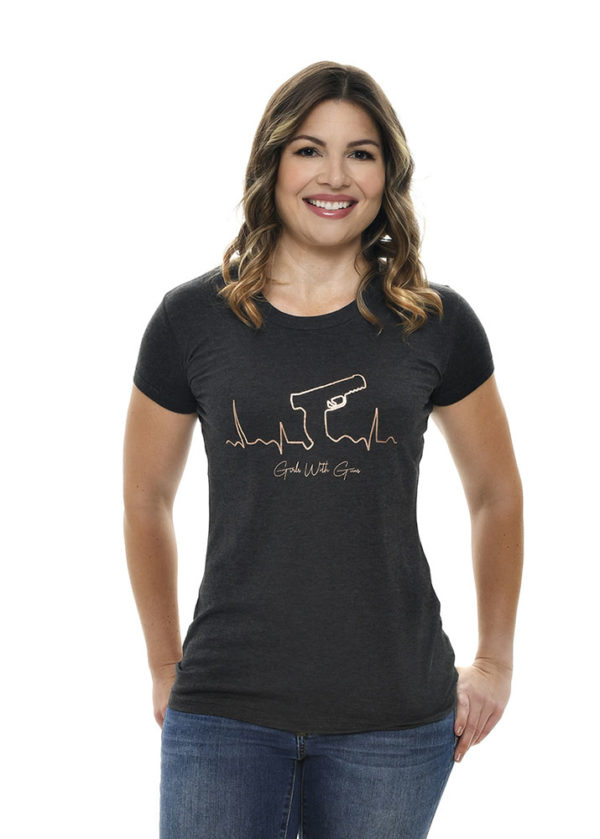 Gunbeat Tee in Charcoal by Girls with Guns