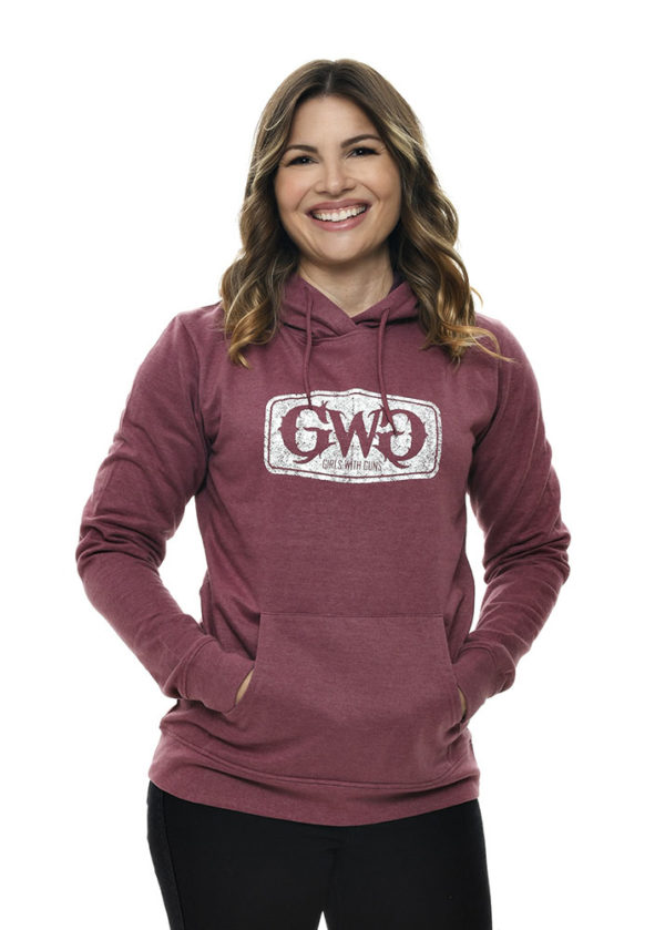 GWG Label Hoodie in Dusty Rose by Girls with Guns