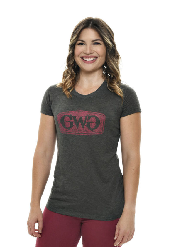 GWG Label Tee in Charcoal by Girls with Guns