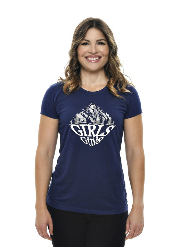 Mountaineering Tee in Indigo by Girls with Guns