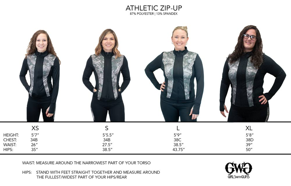 Size Chart for Athletic Jacket