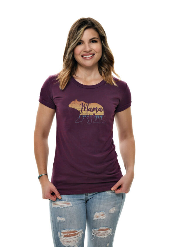Mama Bear Short Sleeve Tee in Plum by Girls with Guns