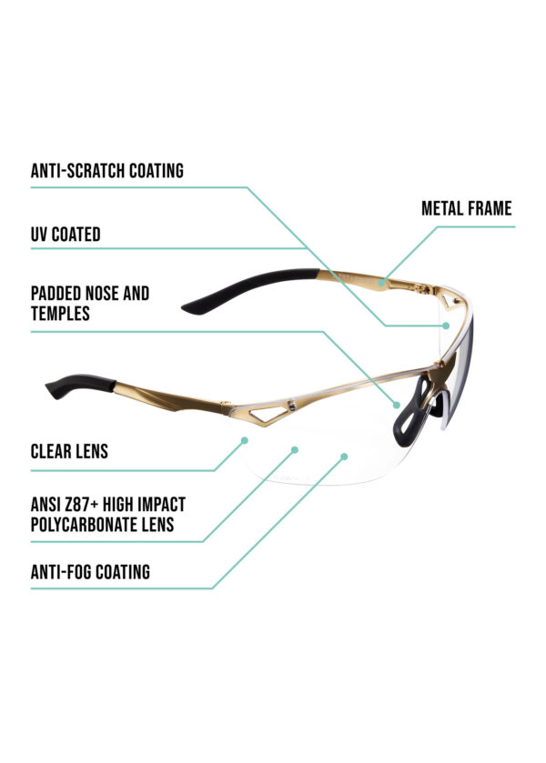 Afire Safety Glasses Product Details and Dimensions