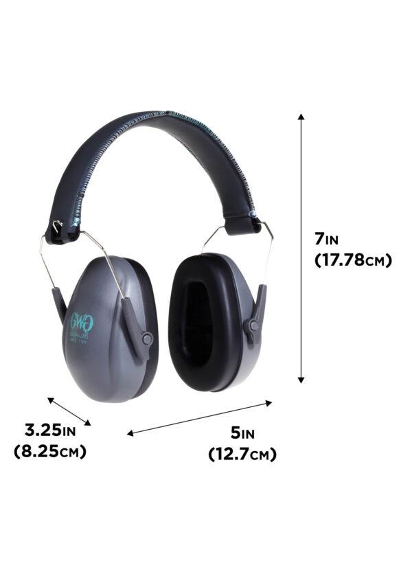 Assure Low-Profile Earmuff - dimensions
