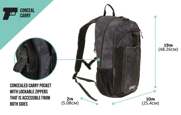 Midnight Backpack Product Dimensions