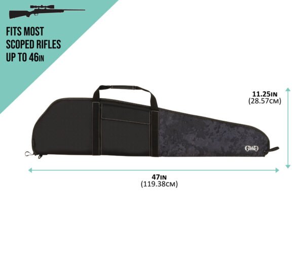 Midnight Rifle Case - Dimensions