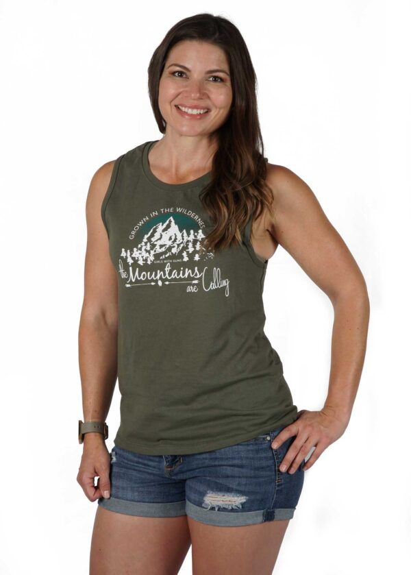 The Mountains Are Calling Muscle Tank