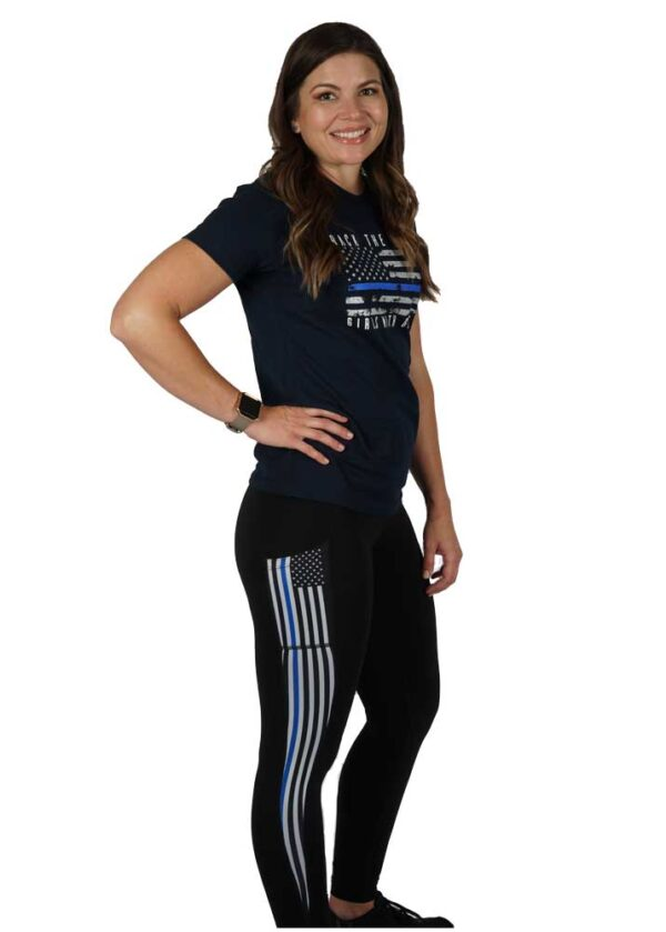 Back the Blue Concealed Carry Leggings